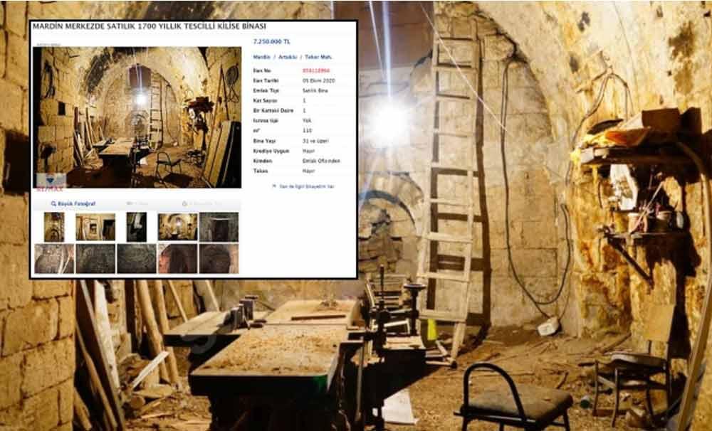 Mardin'de 1700 yıllık Mor Yuhanna Kilisesi satılığa çıkarıldı