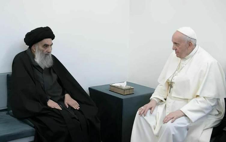 Ofîsa Merciya Şîeyên Iraqê beyanameyek li ser civîna Papa û Sîstanî belav kir