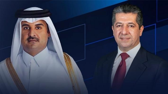 Serokwezîr Barzanî bi emîrê Qatarê re axifî