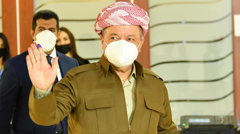 Serokê Kurdistanê Mesûd Barzanî PDK ê û terefdarên wê pîroz kir