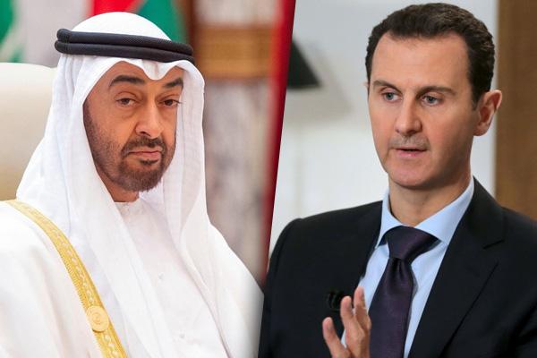 Prensê cîgir Mihemed bîn Zayed el-Nahyan bi Beşar Esed re civiya