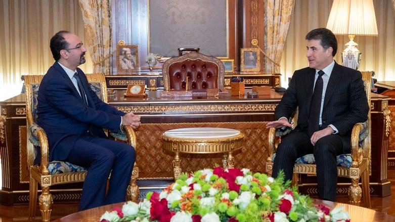 Serokê Herêma Kurdistanê bi Balyozê Giştî yê nû yê Urdinê re civiya