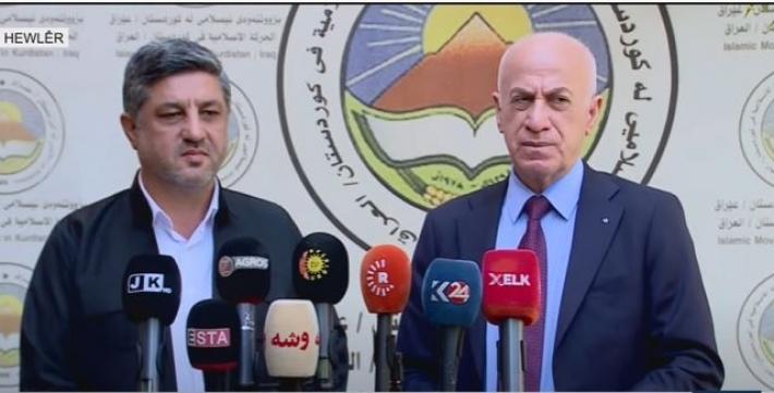Şandeya bilind a PDKê û Tevgera Îslamiya Kurdistanê daxuyaniyek dan