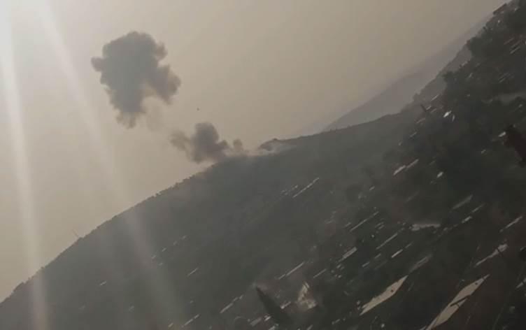 Navçeyeke navbera Efrîn û Idlibê ji aliyê Rûsyayê ve hat bombebarankirin