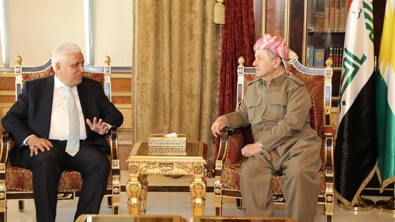 Başkan Mesud Barzani, Falih Feyyaz'ı kabul etti