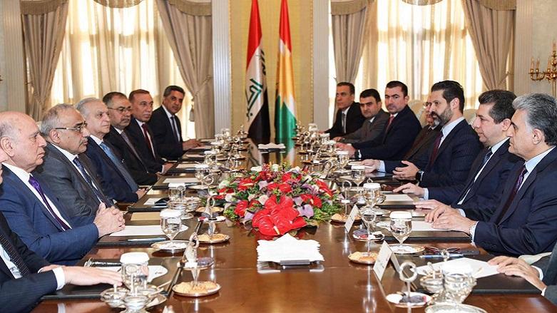 Erbil - Bağdat heyetleri son gelişmeleri görüşüyor