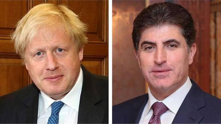 Neçirvan Barzani, Boris Johnson'u tebrik etti