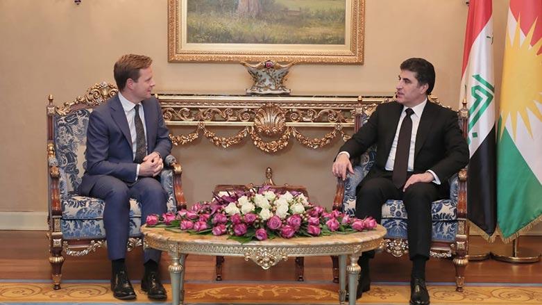 Başkan Neçirvan Barzani, İngiliz heyeti kabul etti