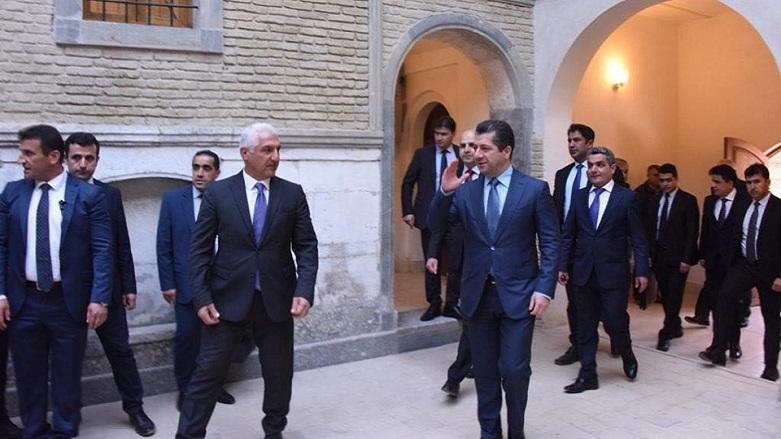 Başbakan, tarihi Erbil Kalesi'nde incelemelerde bulundu