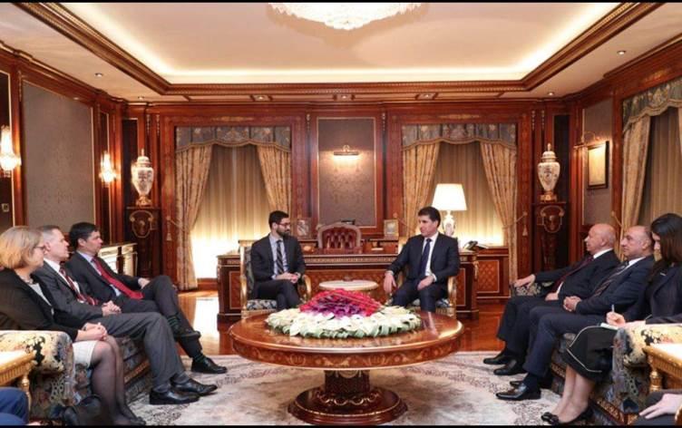Başkan Barzani, ABD'li üst düzey yetkililerle görüştü