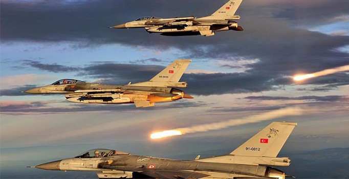 TSK, Erbil'in Sidekan bölgesini bombardımana tuttu