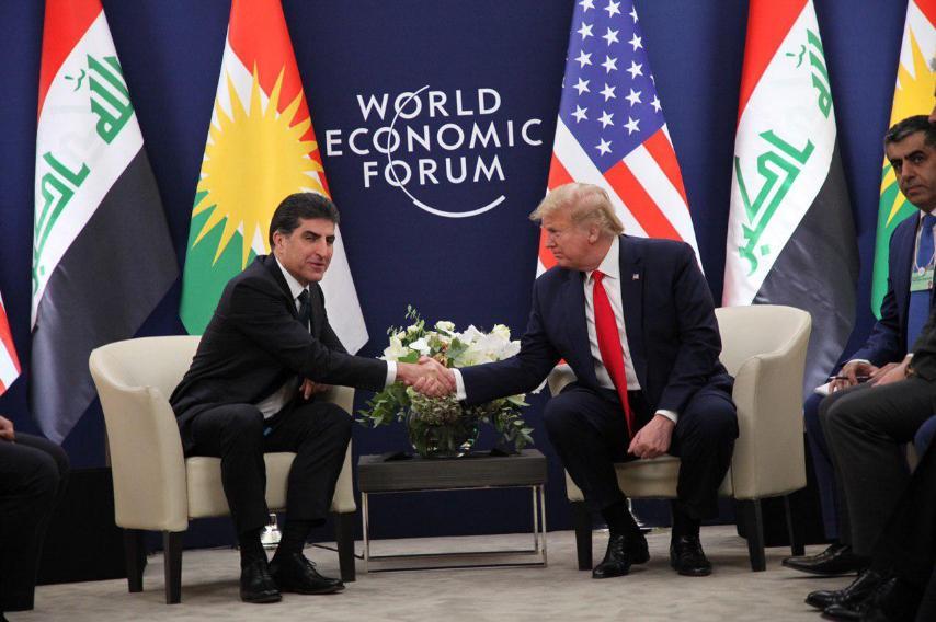DAVOS   Neçirvan Barzani ve Donald Trump bir araya geldi