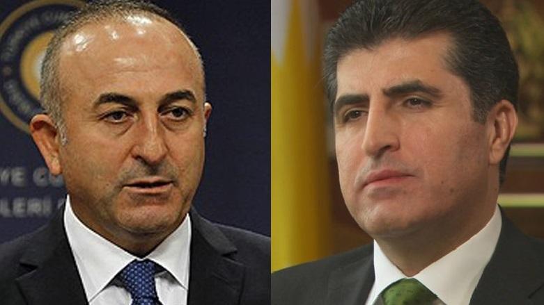 Çavuşoğlu ve Neçirvan Barzani Irak'ı görüştü