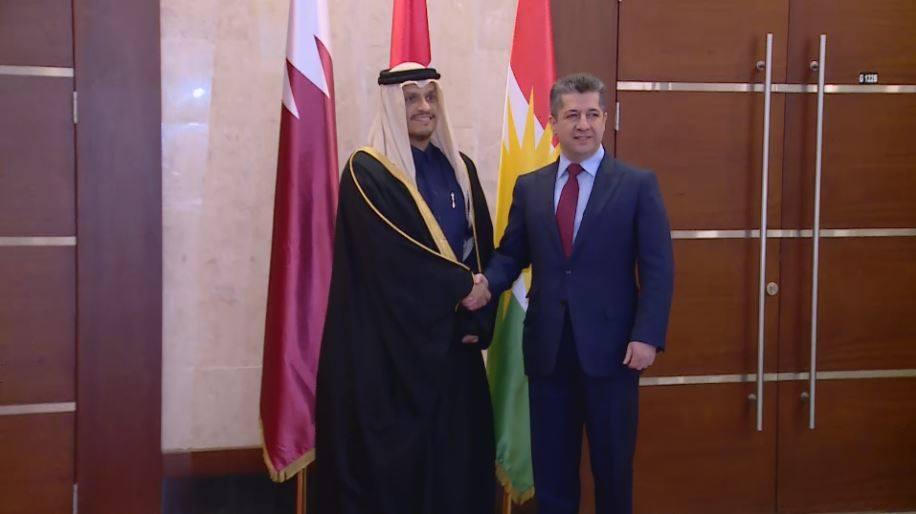 Erbil   Başbakan Barzani, Katar Dışişleri Bakanı ile görüştü