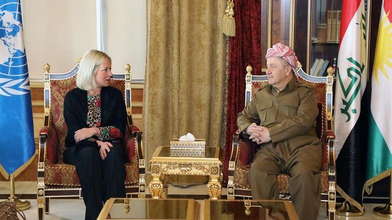 Başkan Barzani, BM temsilcisi ve heyetini kabul etti