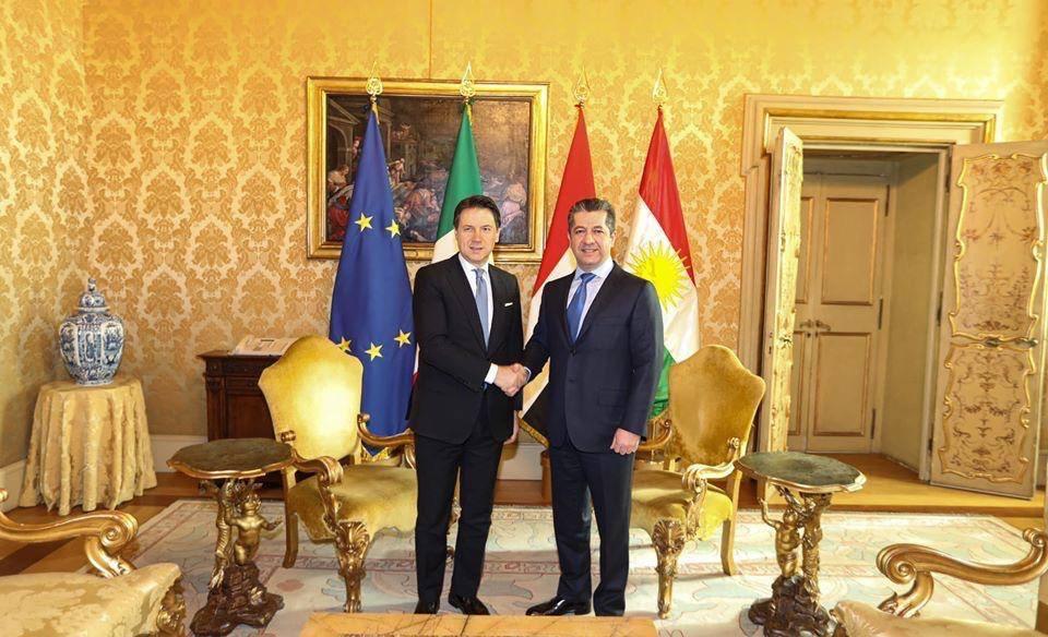 Erbil - İtalya görüşmesi: Başbakan Barzani'den İtalya tweeti