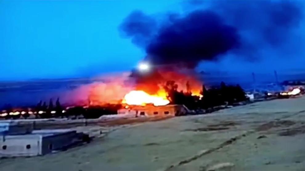 SMO'nun, Eyn İsa'da bombaladığı tesiste yangın çıktı