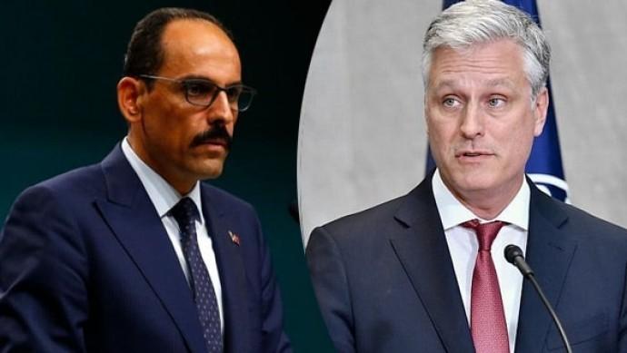 Kalın ve O'Brien, Libya ile Doğu Akdeniz'i görüştü
