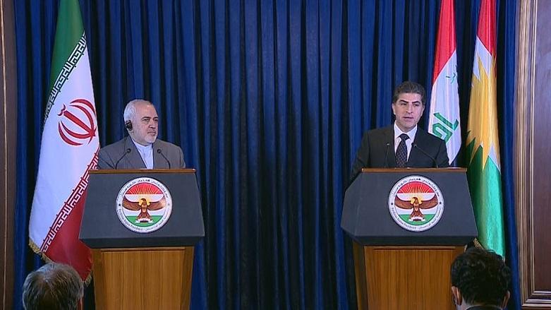 Neçirvan Barzani, Cevad Zarif ve İranlı heyeti kabul etti