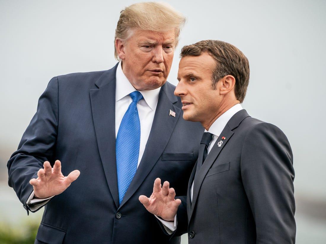 Trump-Macron, Libya'da artan gerginliği görüştü