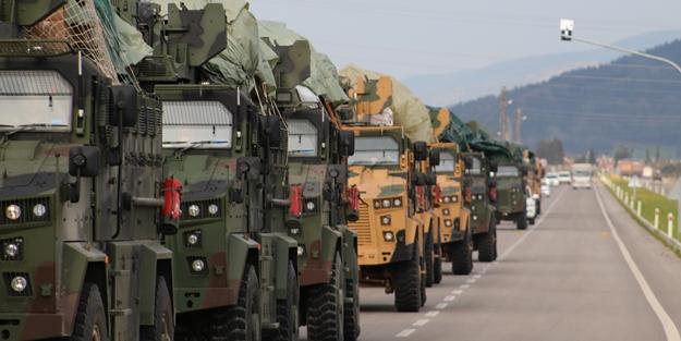 TSK'dan İdlib'teki gözlem noktalarına askeri sevkiyat
