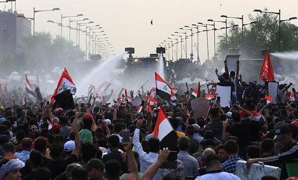 Irak | Sadr taraftarları, Bağdat'ta gösteri düzenledi