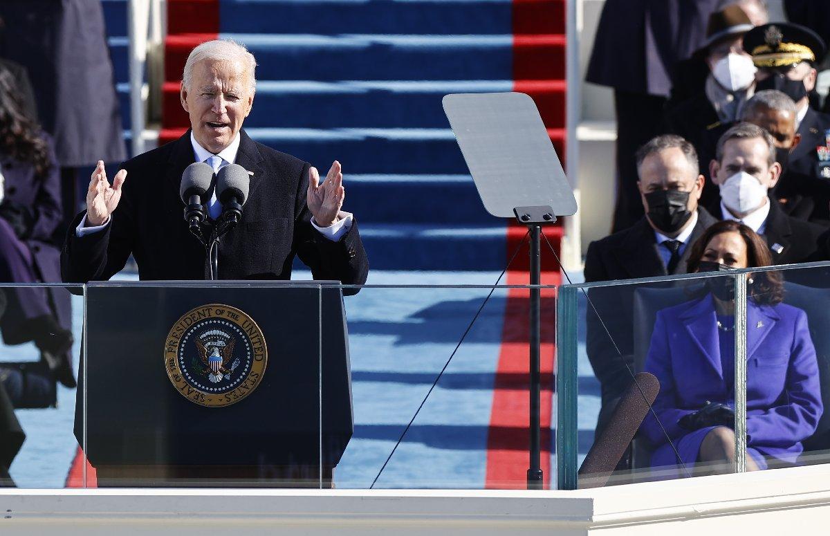 """Biden'den ilk mesaj: """"Bugün Amerika'nın günü"""""""