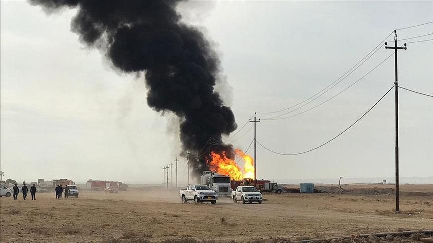 Kerkük petrol kuyularına IŞİD saldırısı: Söndürülemiyor!