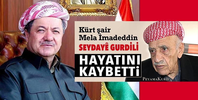 Mesud Barzani: Vatansever şair Mela İmadedin Gurdili'nin vefat haberini üzülerek aldık