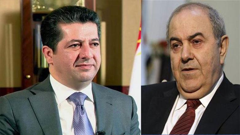 Mesrur Barzani, İyad Allavi ile görüştü
