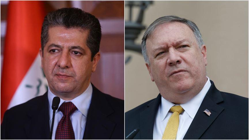 Başbakan, Pompeo ile Erbil-Bağdat müzakerelerini görüştü