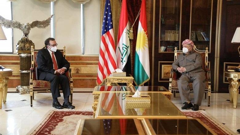 Başkan Barzani, ABD Dışişleri üst düzey heyetini kabul etti