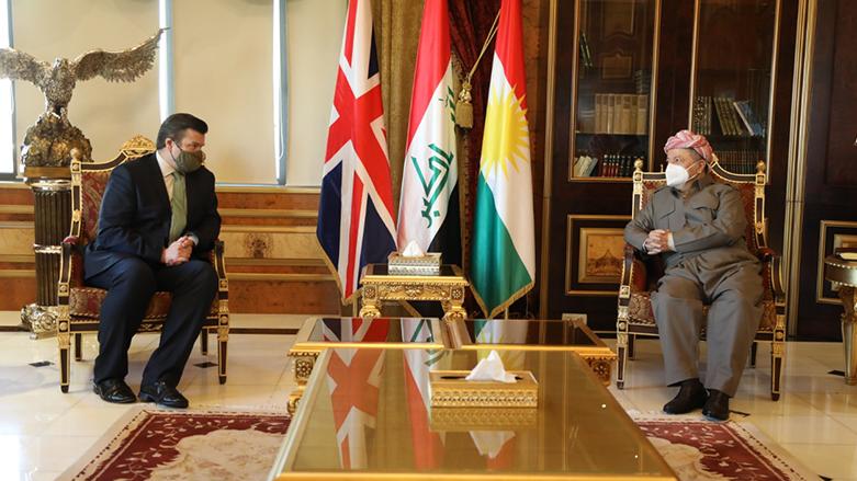 Başkan Barzani, üst düzey İngiliz heyeti kabul etti