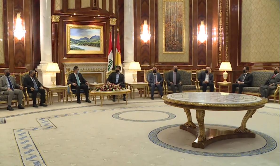 Neçirvan Barzani, Iraklı valiler heyeti ile görüştü