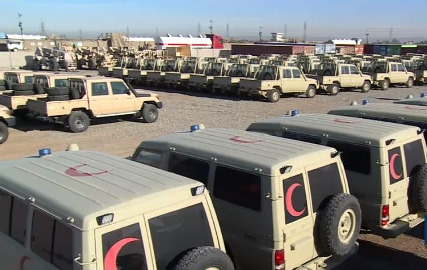 Koalisyon askeri araç konvoyunu Peşmerge'ye teslim etti