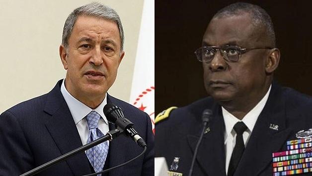 Hulusi Akar, ABD Savunma Bakanı Austin ile görüştü