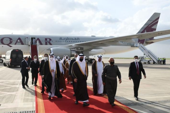 Katar Dışişleri Bakanı ve üst düzey heyeti, başkent Erbil'de
