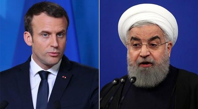 Ruhani'den Macron'a: ABD yaptırımlarına sessiz kalmayın!