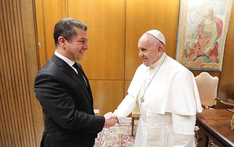 Papa, Başbakan'ın davetlisi olarak Kürdistan'a gelecek