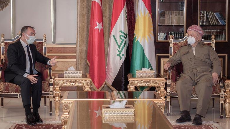 Başkan Barzani, Türkiye Bağdat Büyükelçisi'ni kabul etti