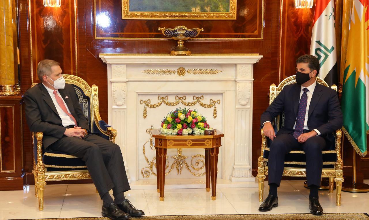 Neçirvan Barzani, ABD ve Yunan büyükelçileri kabul etti