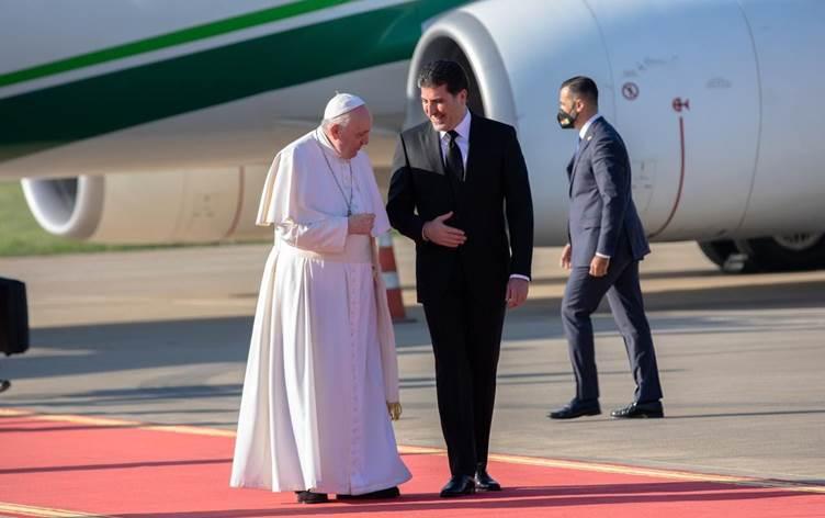 Neçirvan Barzani'den Papa'nın Kürdistan mesajına destek