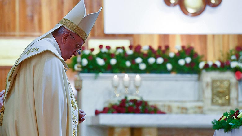 Papa Francis, Bağdat'ta ayin yönetti