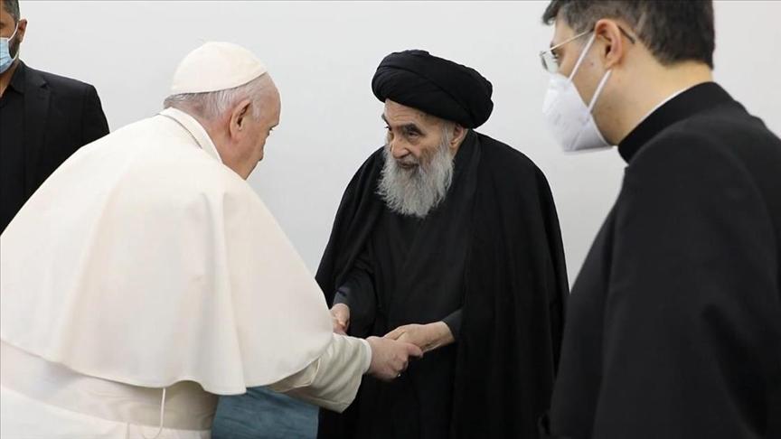Papa'dan Erdoğan'a telgraf, Şii lider Sistani'ye mesaj