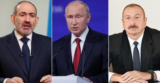 Putin, Aliyev ve Paşinyan ile Dağlık Karabağ'ı ele aldı