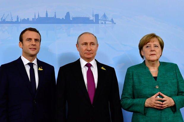 Putin, Macron ve Merkel'den üçlü görüşme!
