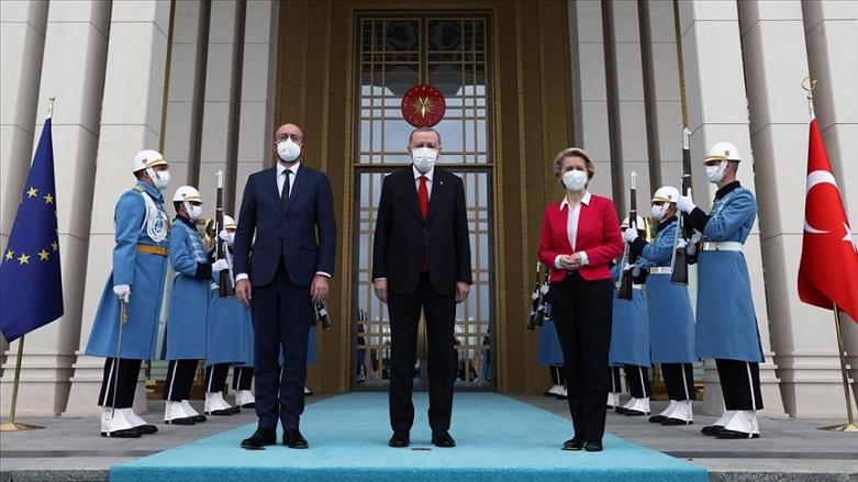 AB liderleri Ankara'da Erdoğan'la görüştü