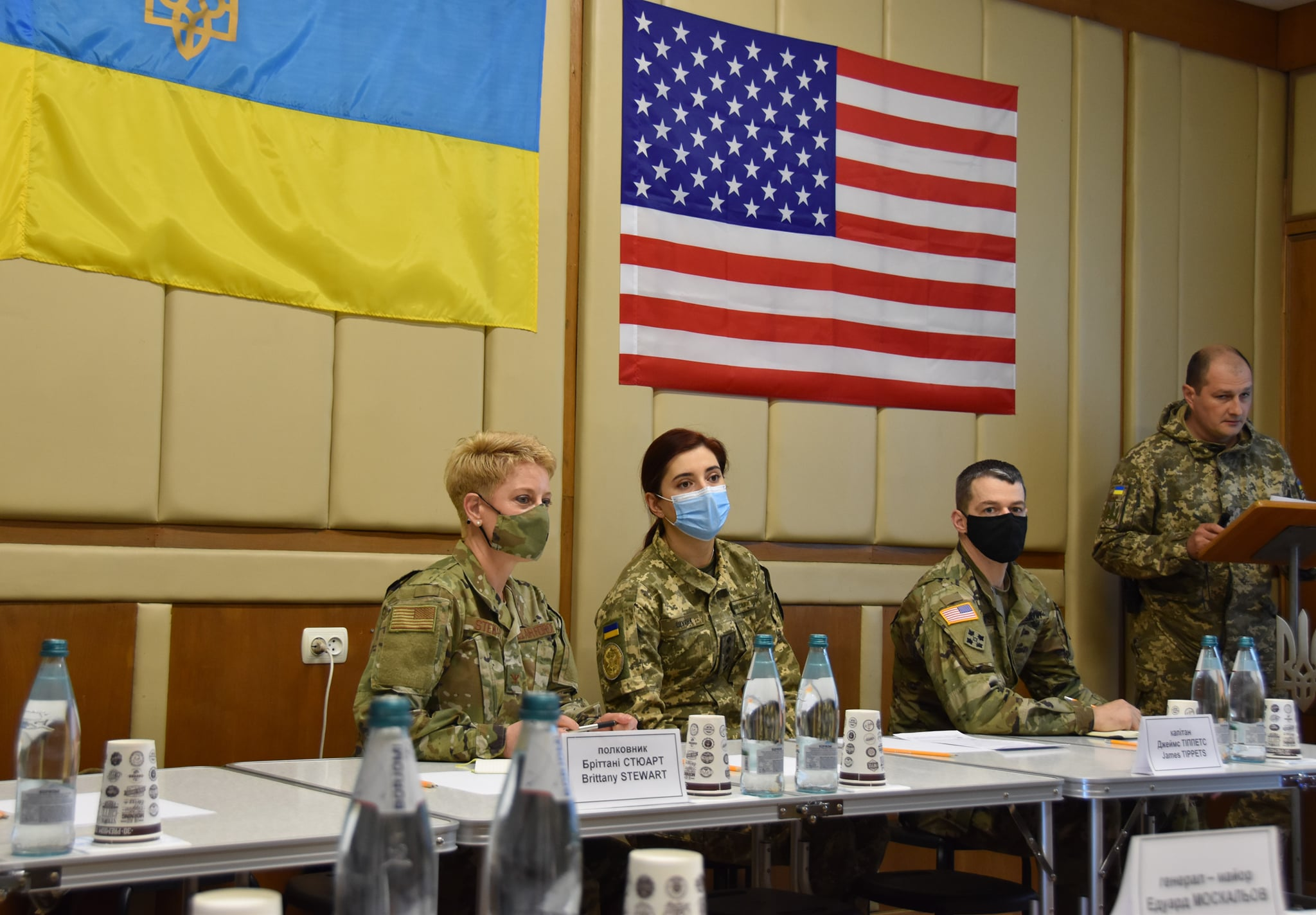 ABD heyeti, Donbas'taki askeri operasyon bölgesinde