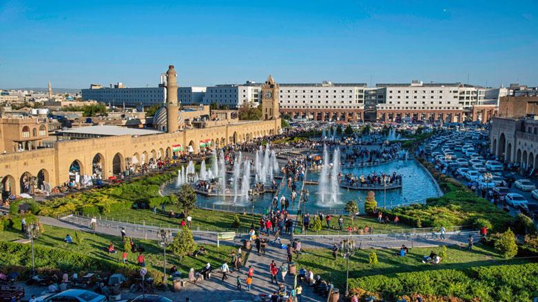Başkent Erbil'e turist akını: iki günde 100 binden fazla ziyaret
