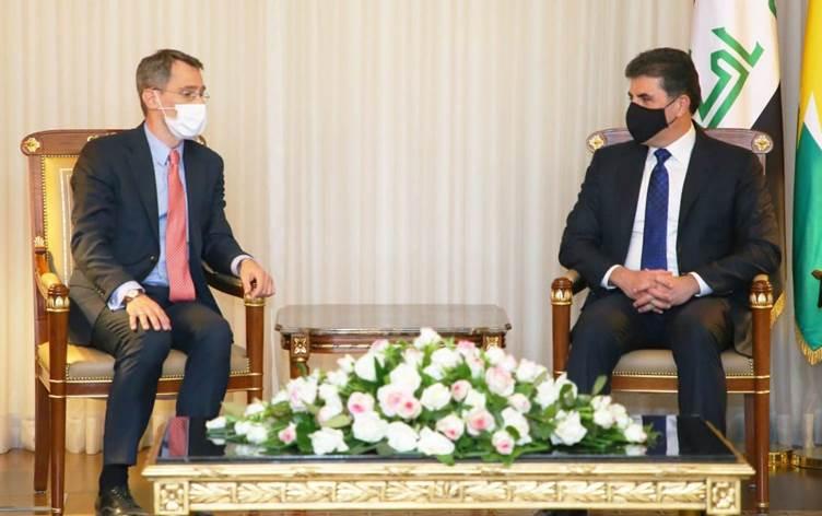 Neçirvan Barzani, ABD'li üst düzey heyet ile görüştü